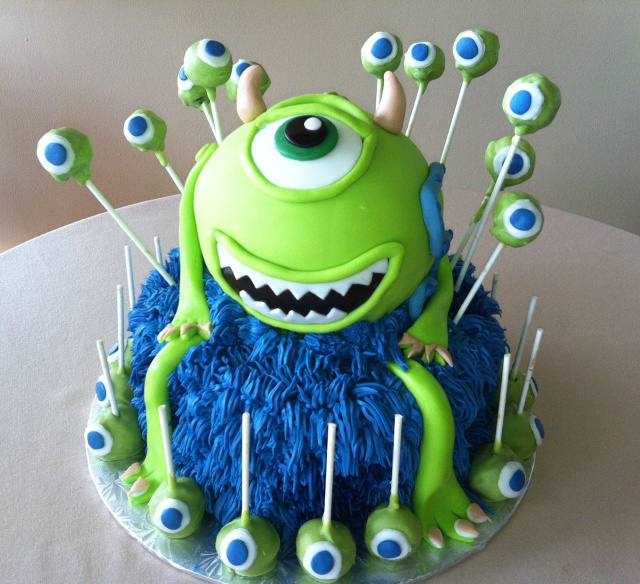 Monsters Inc Edible Cake Ideas And Designs
