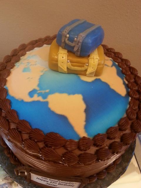 World Traveler Birthday Cake