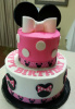 Minnie with White Bow Cake