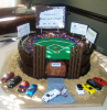 Baseball Field in Chocolate Fudge