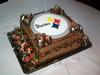 Pittsburg Steelers Logo Cake