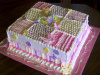 Girl Baby Blanket and Butterfly  Cake