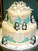 Adult Birthday Cake - Penguins