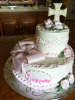 Confirmation Cake in Pink