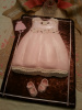 Pink Baby Shower Dress and Booties Cake