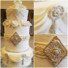 jewels and pearls cake